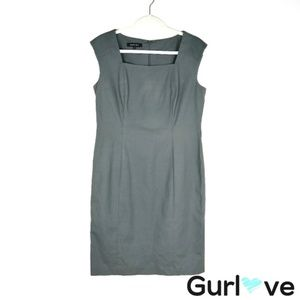 Lafayette 148 NY Gray Sleeveless Sheath Dress Sz 8